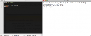 SML TextMate Bundle in Action